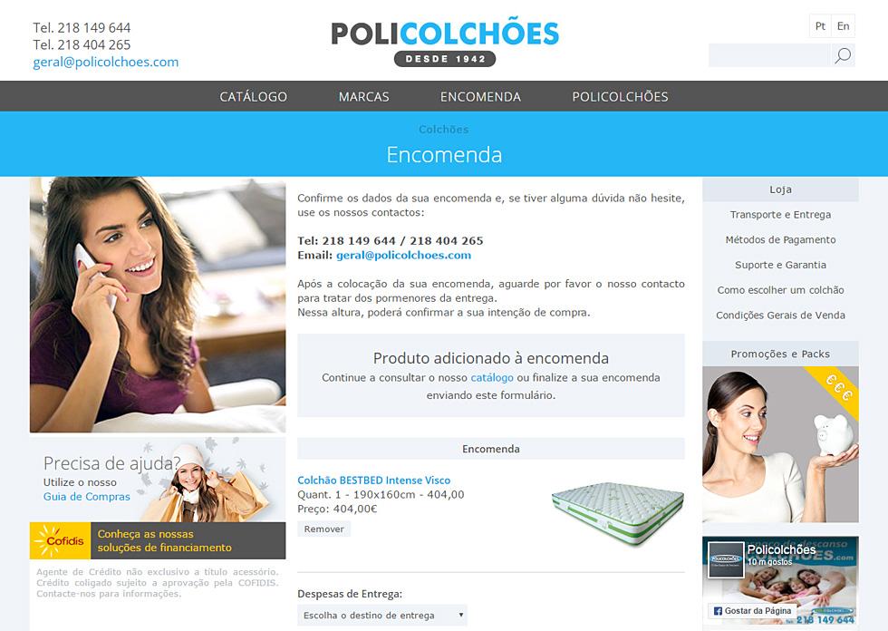 Loja online Policolchões