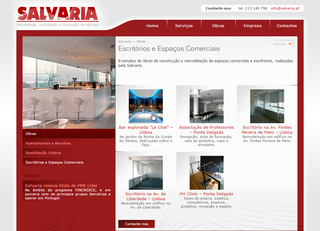 Website SALVARIA