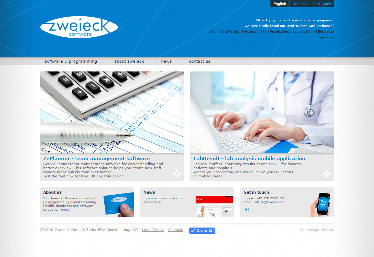 Site Zweieck Software