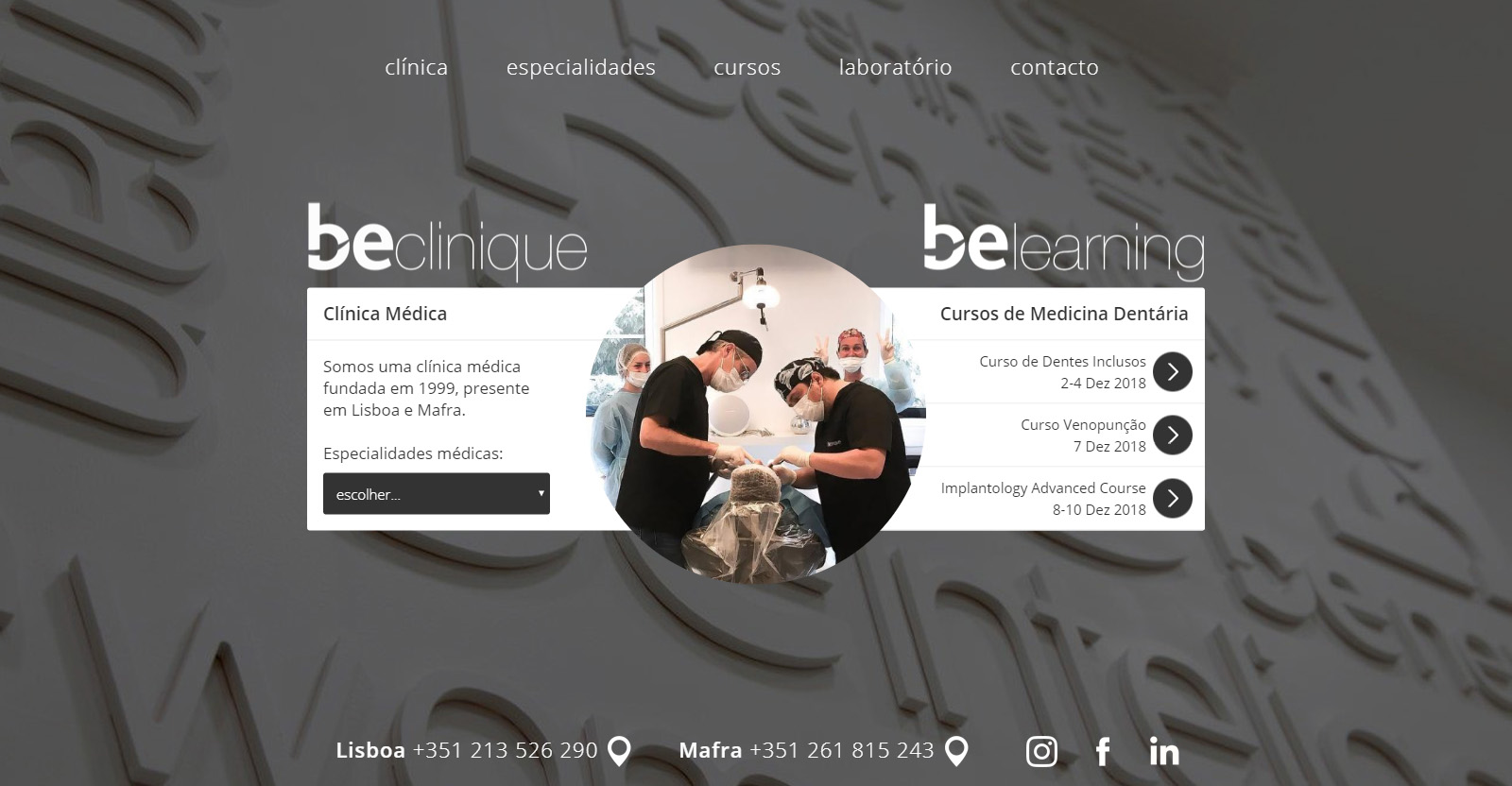 BeClinique Website