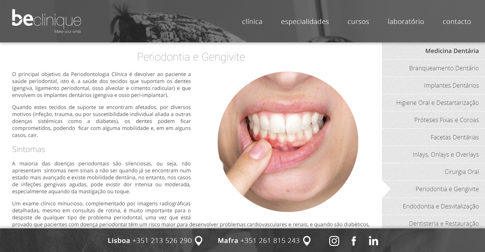 Website BeClinique