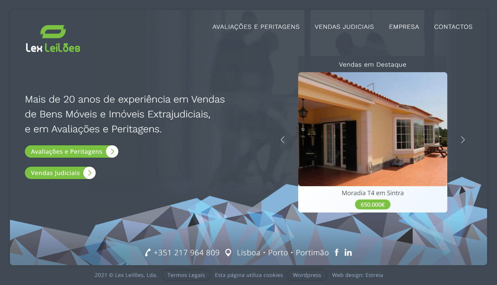 Website Lex Leilões
