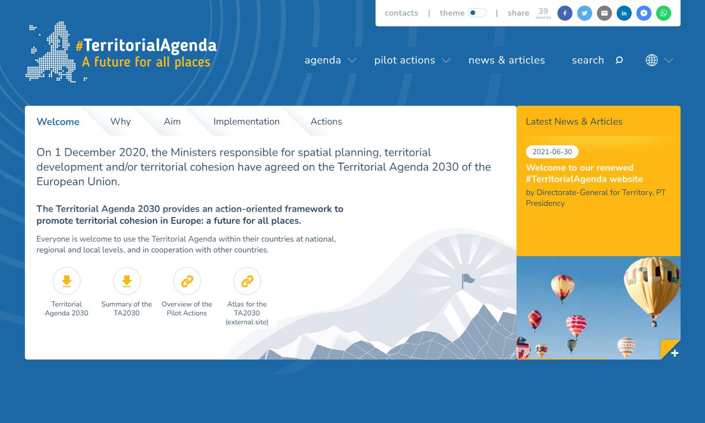 Site Territorial Agenda 2030
